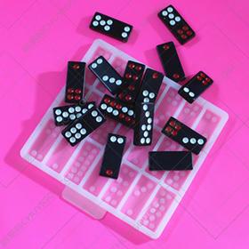 巧克力模具硅胶牌九牌骨牌天九创意赌神翻糖模具