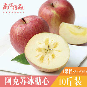 【现货】新疆阿克苏冰糖心苹果10斤 新鲜水果(珠三角包邮)