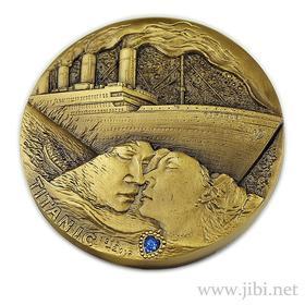 泰坦尼克号百年纪念铜章(黄铜+紫铜)