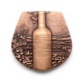 80MM红酒紫铜章