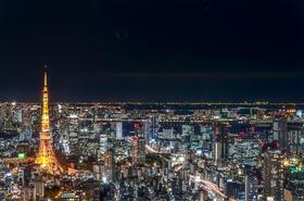 【东京必体验】夜游东京 摩天轮赏东京夜+敞篷巴士品东京景