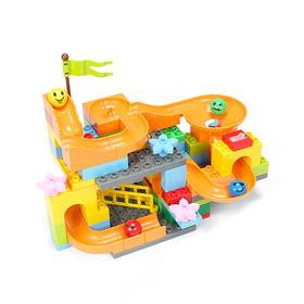 欢乐客滑道积木儿童益智玩具