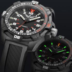 野狼军表瑞士H3自发夜光潜水碳纤维男士手表运动200米防水潜水表V2.1超光版