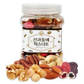 韩国M&F山野每日混合坚果仁400g 儿童孕妇零食桶装无糖烤制干果