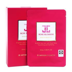 韩国Jayjun水光玫瑰面膜10片/盒温和焕白补水改善色素沉着肤色不均