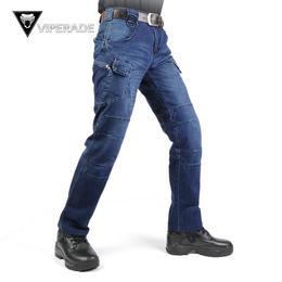 VIPERADE 砂石IX7执政官战术牛仔裤 通勤直筒修身秋冬作训男长裤