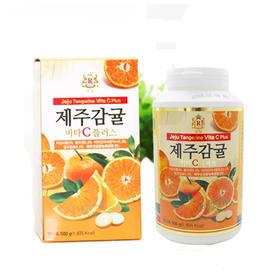 韩国济州岛柑橘VC咀嚼片500g 济州岛特产维生素C