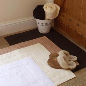 康尔馨 五星级酒店地巾浴室加厚纯棉吸水加大卧室进门地垫全棉