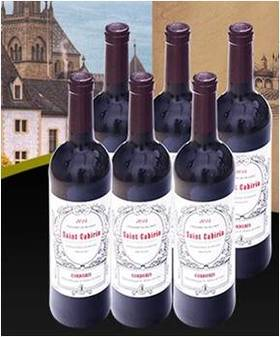 圣卡蒂亚AOC干红葡萄酒 750毫升*6瓶(一箱)