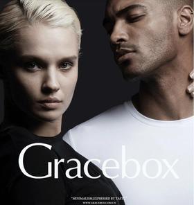 Gracebox 纯色圆领莱卡简约休闲男长袖打底T恤