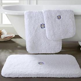 五星级酒店地垫门垫全棉绣花防滑垫脚垫子进门垫浴室卧室厚