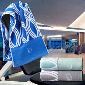 康尔馨五星级酒店会所擦汗巾运动巾全棉吸汗毛巾加大加长毛巾男女