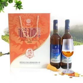 陕西特产白河裕硒轩8度木瓜酒低度酒果酒礼盒装750ML*2