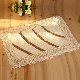 康尔馨 纯棉绒面加厚地垫 色织地垫 门垫浴室防滑垫 度假酒店定制