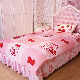 【贝瓦会员专享】粉色小公主:贝瓦床品三件套