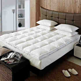 五星级酒店双层羽绒加厚床褥垫子 单双人慢回弹宿舍保护垫 酒店双层床垫 8cm加厚