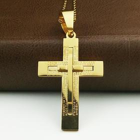 外贸原单项链双层十字架G款