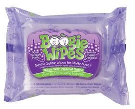 [超值特价]美国原产 BOOGIE WIPES鼻涕虫婴儿湿巾 葡萄香30抽