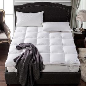 五星级酒店80S全棉羽绒床垫加厚90%白鹅绒床褥子1.8m床双人