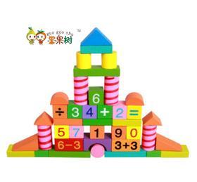 【玩具】果果树80粒早教拼装玩具积木 儿童木制玩具 创意益智玩具幼教礼品