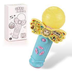 【玩具】宝宝多功能卡通麦克风 声光教学益智早教儿童玩具