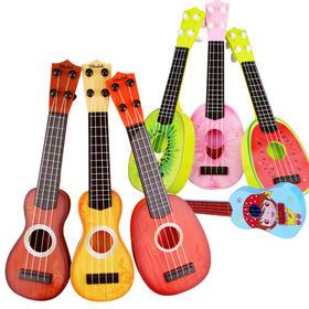【玩具】仿真吉他 水果尤克里里 声光触摸儿童乐器 益智早教互动玩具