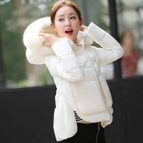 【美货】新款冬季羽绒棉服女短款外套韩版大毛领棉袄学生时尚女装加厚
