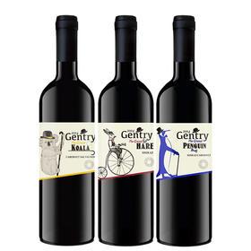 【熊猫微店】澳大利亚Gentry绅士西拉赤霞珠干红葡萄酒750ml 企鹅/考拉/长耳兔葡萄酒