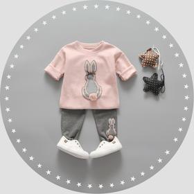 婴儿衣服春秋季女儿童9个月-3岁宝宝秋装潮婴幼儿外出服长袖套装WCF855