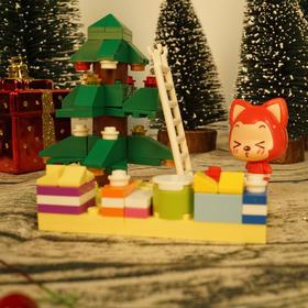 上次抢光了,好不容易又有货啦!一盒四款超划算!阿狸X星钻积木圣诞礼盒,一起拼积的幸福~