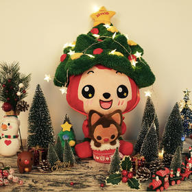 """【圣诞""""狸""""物】阿狸2016款大号圣诞帽毛绒 帽子可拆卸"""