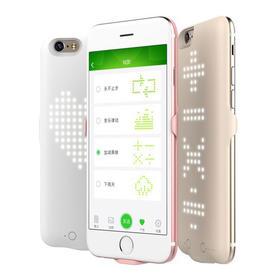 Windframe iphone6/6s 手机背夹电池/手机壳电源充电宝带炫灯LED滚屏动态图