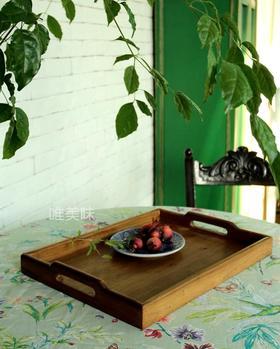 纯手工 榆木 实木 托盘 早餐 下午茶 轰趴 茶歇