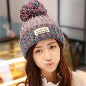 【帽子】*保暖加绒加厚男女士针织贴布毛线帽 冬季潮时尚儿童亲子帽子 | 基础商品