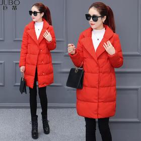 【美货】韩范时尚棉衣女中长款外套冬季保暖棉袄修身显瘦羽绒棉服潮流