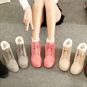 【美货】新款雪地靴女学生平底短靴女鞋短筒保暖靴子加绒韩版棉鞋