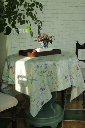 外贸 优质精梳棉 埃及棉 餐桌布台布装饰布 家宴 轰趴 芳草