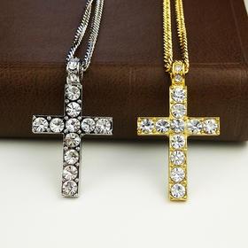 外贸原单 满钻项链 十字架F款