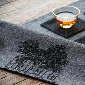 LEEWAY·谢 设计师原创品牌 100%麻 茶席套装四件套