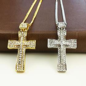 外贸原单 满钻项链 十字架B款