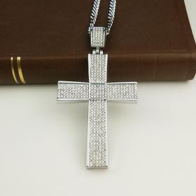 外贸原单 满钻项链 十字架C款