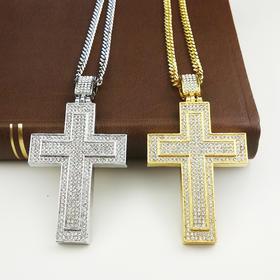 外贸原单 满钻项链 十字架D款