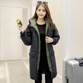 【美货】韩国代购女装新款冬装羽绒棉服女学生韩版中长款加厚宽松棉衣外套