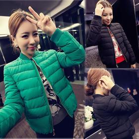 【美货】秋冬季新款韩版棒球女装棉衣长袖短款加厚小棉袄修身显瘦棉服外套