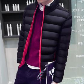 【美货】冬装男士棉衣外套青年韩版潮流棉服修身短款冬季男装棉袄加厚