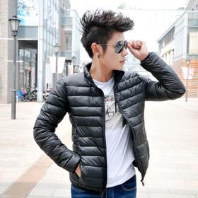 【美货】冬装男士棉衣薄款立领冬季外套青少年韩版修身短款羽绒棉服男装潮