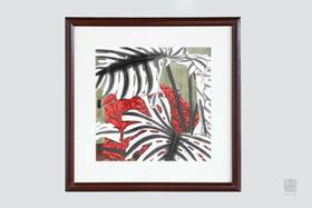 包邮  画中藏着隽永的诗意:林若熹 木框画四幅 精美书房装饰画
