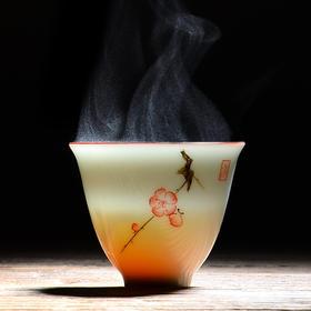 永利汇 景德镇手绘品茗杯 陶瓷功夫小茶杯单杯个人杯主人杯茶具