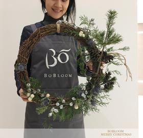 BOBLOOM[HAND MADE圣诞环]圣诞环手工松果松树进口花材礼品装饰