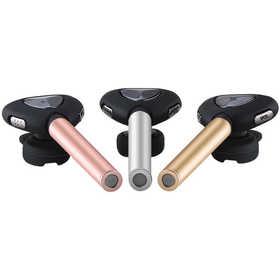 毕亚兹耳机无线迷你入耳式手机通用D07玫瑰金通话运动清晰蓝牙